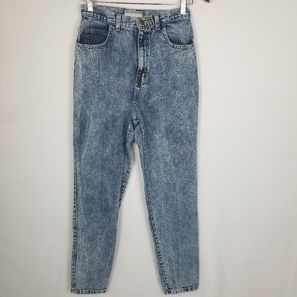 Stefano International Denim - Vintage Stefano High Rise Acid Wash Mom Jeans